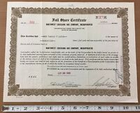 Northwest Louisiana Gas Company Inc Stock Certificate 1935 17 Shares