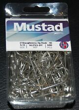 100 Mustad 91753D-50 Size 5/0 Saltwater O'Shaughness 90 Degree Jig Hooks