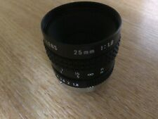 PENTAX / Cosmicar C22516 25mm f1.8 CCTV Manual C-mount Lens
