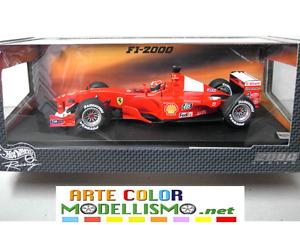MATTEL HOT WHEELS 26737 FERRARI F2000 SCHUMACHER WORLD CH. 1/18 F1 SCALE MODEL