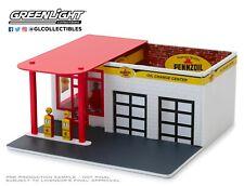 1:64 Greenlight *MECHANICS CORNER* PENNZOIL GAS STATION Diorama Building NIB!