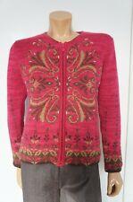 Icelandic Design Small Cardigan Sweater Zip-up Jacket Pink Alpaca Wool Mohair