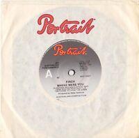 """Finch-Where Were You 7"""" Single 1977 Portrait-Mark Evans AC/DC – PR 45011"""