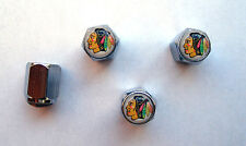 Chicago Blackhawks Tire Valve Stem Caps, Chicago Blackhawks Logo Tire Caps,