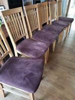 6x Stühle Esstisch, Massivholz, Eiche geölt, braun, Dän. Bettenlager, Esszimmer