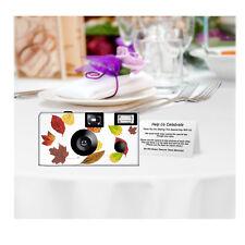 5 Autumn Leaves Disposable Cameras Wedding Cameras, Fuji film (F53369)
