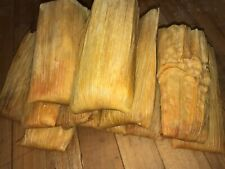 One Dozen GOURMET PORK TENDERLOIN RED TAMALES Homemade Mexican frozen