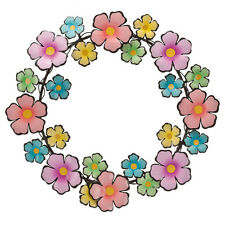 Flower Wreath Door Wall Fence Spring Decor Indoor Outdoor 14 Inch Home Decor B