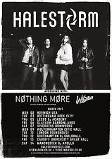 Halestorm / Nothing More / Wilson 2015 Uk Concert Tour Poster - Hard Rock Music
