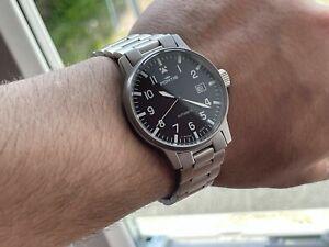 Vingtage Fortis Flieger Pilot 25 Jewels Automatic Black Dial Men's Watch