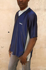 Adidas THREE Mens Short Sleeved Tee Blue Grey T-shirt BASKETBALL Vintage 90s XL