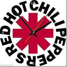 Sveglia da parete, orologio RED HOT CHILI PEPPERS MDF wall clock wood,bar, pub