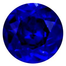 Lab Created Rich Vivid Blue Sapphire AAA+ Round Loose Gemstone (1.25mm - 12mm)