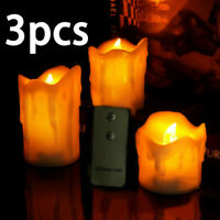 Flickering LED Candle Light W/ Remote Control Electric Tealight Flameless