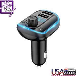 Wireless Bluetooth FM Transmitter Car Handsfree MP3 Radio Charge Adapter USB 5.0
