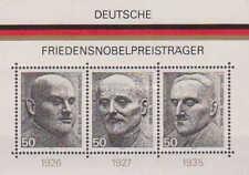 Alemania R.F. Yv. 10 H.B. Premios Nobel de la Paz [R9072]/ Germany. Nobel Peace