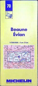 Antigua Postal Michelin collector-200 000é, Beaune, Evian