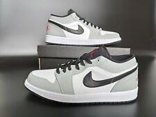 Nike Air Jordan 1 Low Light Smoke Grey Men's Trainers New Size UK 8