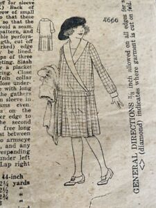 2 Antique Sewing patterns 1920s Girls Dresses 6,8 Unbranded Flapper/4666 5844