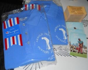 200 Vintage Arnold Palmer Golf Putting Course Discount Cards 2 SHIRTS, Postcards