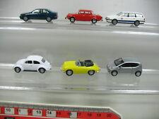 ab121-0,5 # 5 x herpa H0 Camión: Volkswagen Escarabajo,Up PASSAT,AUDI,PORSCHE