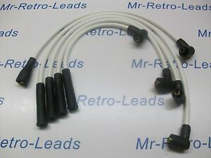 WHITE 8MM PERFORMANCE IGNITION LEADS FOR OPEL MANTA QUALITY HAND BUILT LEADS HT