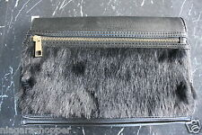 ALDO*Black Handbag/Clutch/Purse*Faux Fur Front*Roccacanavese/98*34425218*NEW*