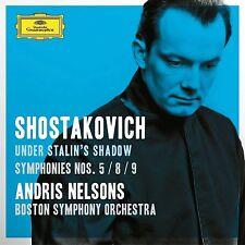 New Shostakovich Under Stalin's Shadow Symphony 5 8 & 9 Andris Nelsons 2 CD set