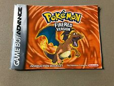 Pokemon Fire Red Version Nintendo Gameboy Advance GBA Instruction Booklet Manual
