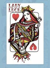 "4"" Card Queen Lady Luck Sword Stab Hearts Broken Kill Lucky Vinyl Cool Sticker"