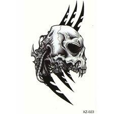 Temporäre Tattoos Totenkopf Skull Messer Design Temporary Körperkunst Klebetatto