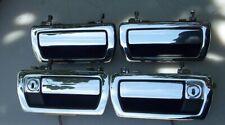 90-94 Jaguar XJ6 Complete Door Handle Set-4 Rare OEM Nice