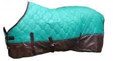 "74"" TEAL 420 Denier Quilted Nylon Winter Horse Blanket by Showman!! NEW TACK!!"