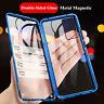 360 Magnétique coque Pour Samsung Galaxy S20 S10 S9 S8+ étui 9H verre trempé