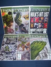 World War Hulk Front Line #1- #6 Set Marvel Comics NM with Bag and Board 2007