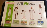 Nintendo Wii Fit Plus Balance Board Bundle Complete:Games, Manual, NEW Batteries