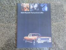 1969 XW FORD FALCON UTE SALES BROCHURE PLUS ''RARE'' COLOUR AND TRIM CHART