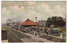 Cambridge Springs PA - ERIE RAILROAD STATION - Postcard