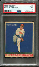 1933 Goudey #65 Milton Gaston PSA 5 Chicago White Sox