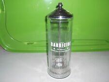 Vintage Barbicide Barber Salon Disinfectant Glass Jar - Complete