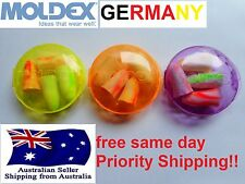 12x MOLDEX Germany 3 pocket packs Motorcycle travel plane ear plug earplugs