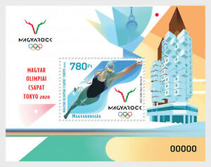HUNGARY 2021 32ND SUMMER OLYMPIC GAMES TOKYO 2020 SOUVENIR SHEET OF 1 STAMP MINT