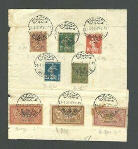 TURKEY MERSIN 1921 France Stamps Turkey Overprint