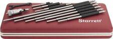 Starrett 2 To 12 Satin Chrome Coated Mechanical Inside Micrometer Set