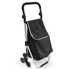 Bremermann Monte-escalier Steimke Chariot de Course Panier D'achat Noir