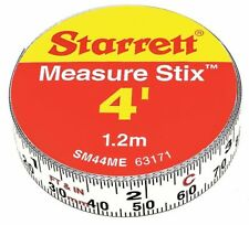 Starrett SM44ME 63171 Steel Tape Measure with Adhesive Back, 1/2-Inch x 4', New