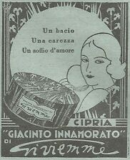 W2348 Cipria Giacinto Innamorato di Gi.vi.emme - Pubblicità del 1930 - Advert