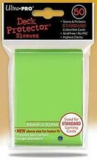 50 DECK PROTECTORS Lime Green Verde Chiaro MTG MAGIC ULTRA PRO