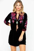 💕 JOHNNY WAS Embroidered MARCELLA V-Neck MARCELLA Henley JWLA Dress S $328 💕