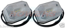 2x WHITE LED FRONT MARKER LIGHT LAMP IFOR WILLIAMS BRIAN JAMES TRAILER AS ASPOCK